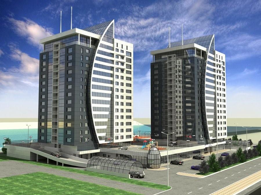 На фото – многоквартирные жилые дома по окончании строительства