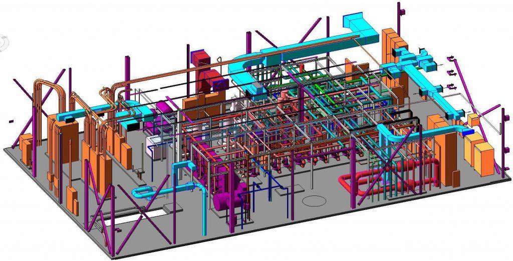 На фото – объемная модель расположения инженерных систем